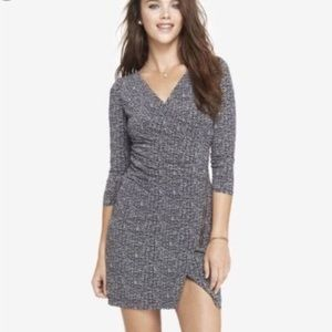 🆕 NWOT EXPRESS wrap dress with zipper detailing